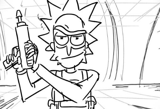 Rick With A Gun Coloring Page Free Printable Coloring