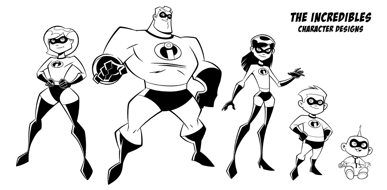The Incredibles 2 Coloring Page