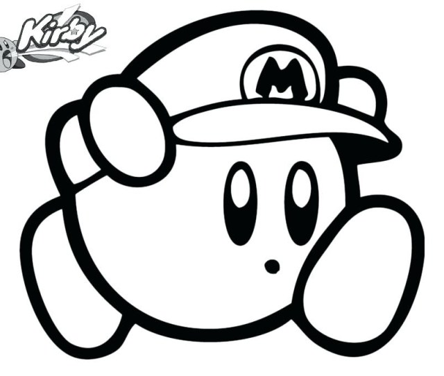 Kirby Mario Coloring Page Free Printable Coloring Pages For Kids