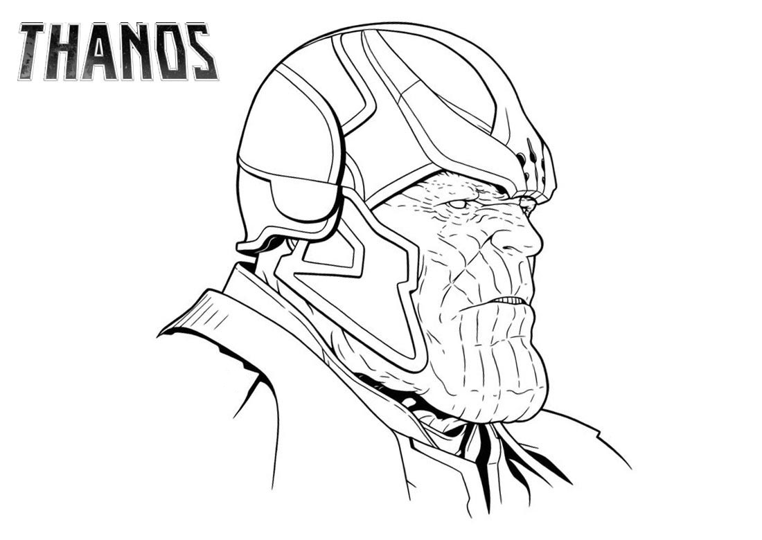 Thanos S Face Coloring Page