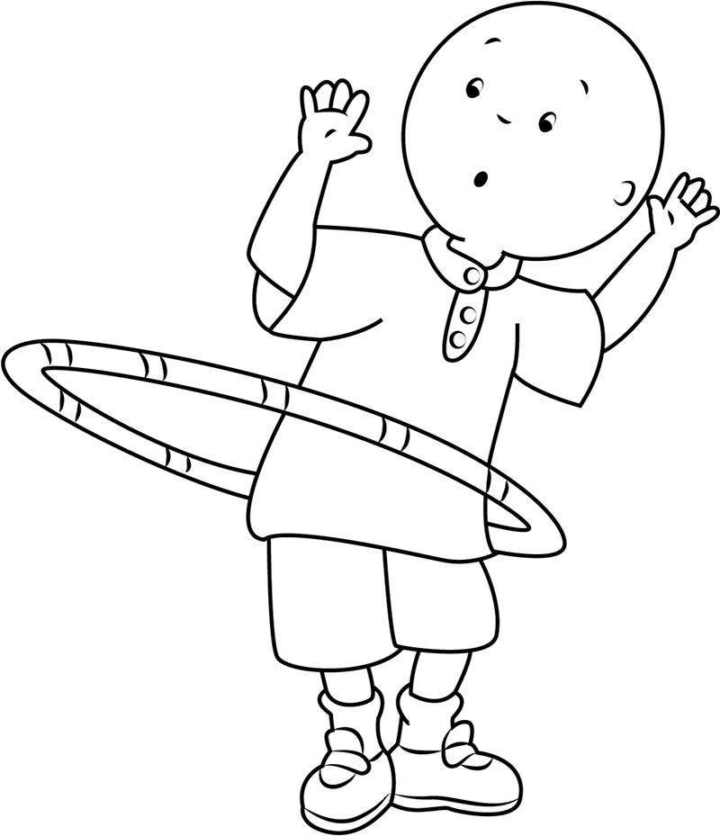 caillou hula hoop coloring page  free printable coloring