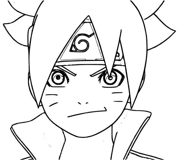 Boruto Smiling Coloring Page Free Printable Coloring