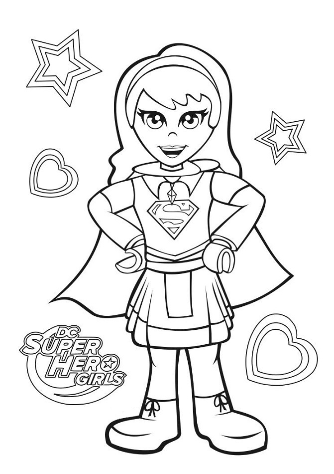 supergirl coloring page  free printable coloring pages