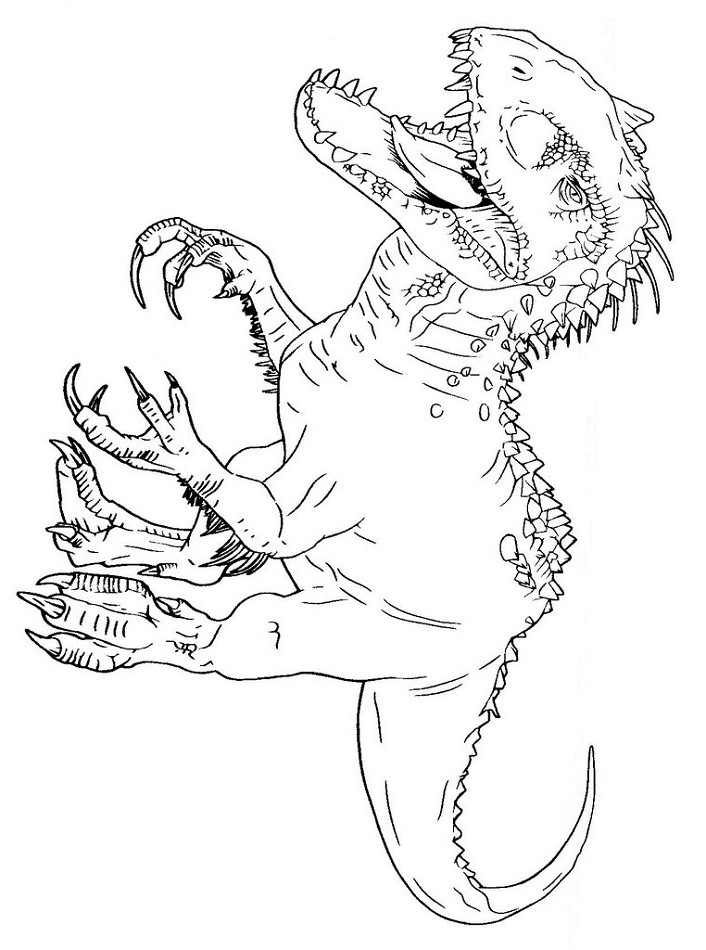 Indominus Rex Coloring Page Free Printable Coloring