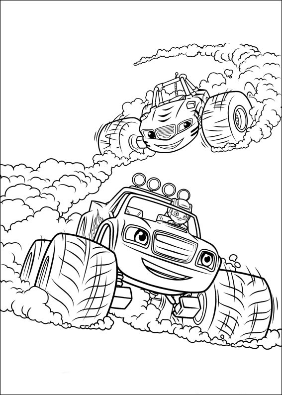 Stripes And Blaze Racing Coloring Page Free Printable Coloring Pages For Kids