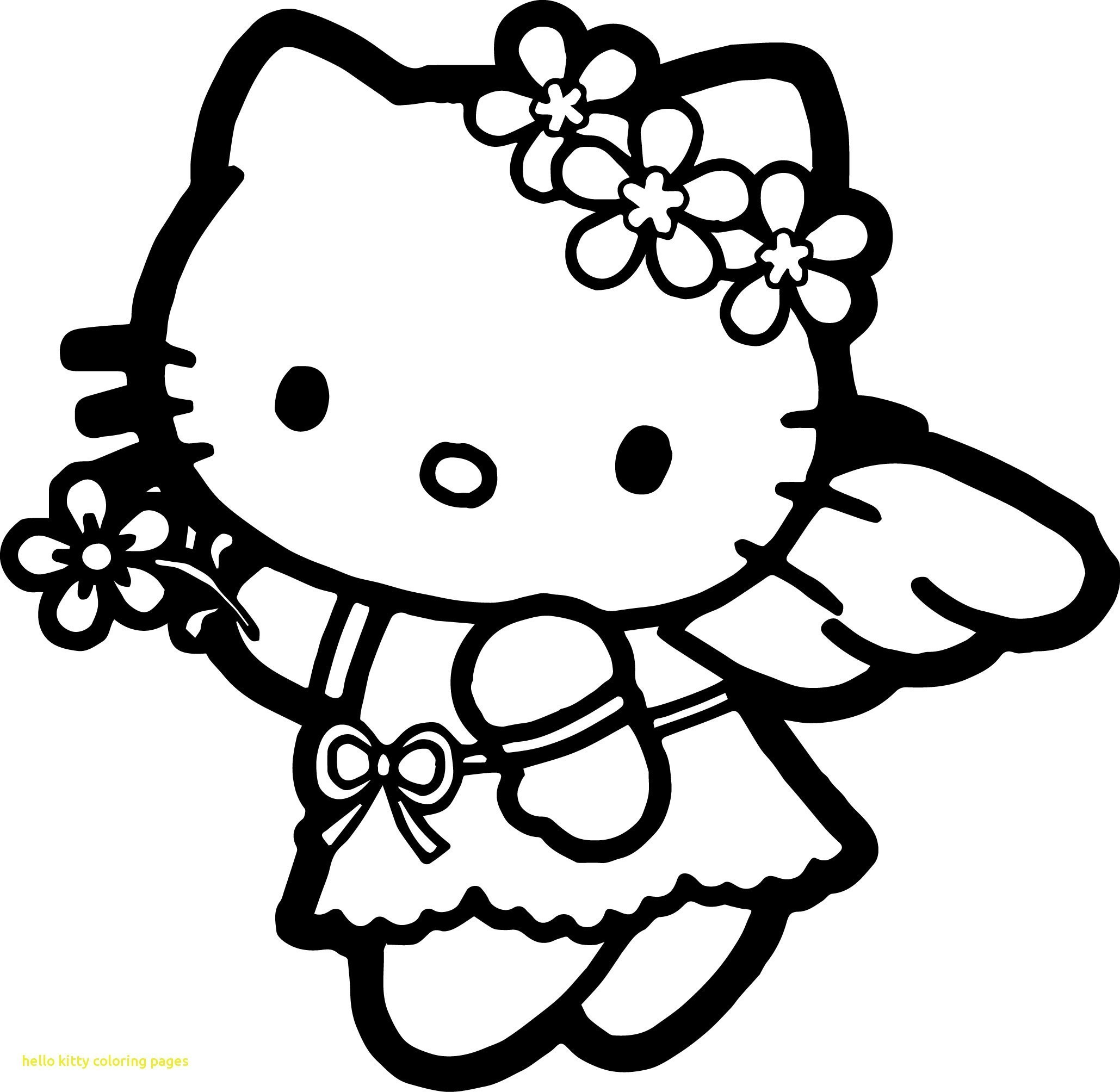 Kitty The Angle Coloring Page
