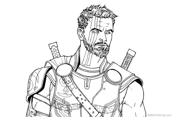 thor coloring page # 70