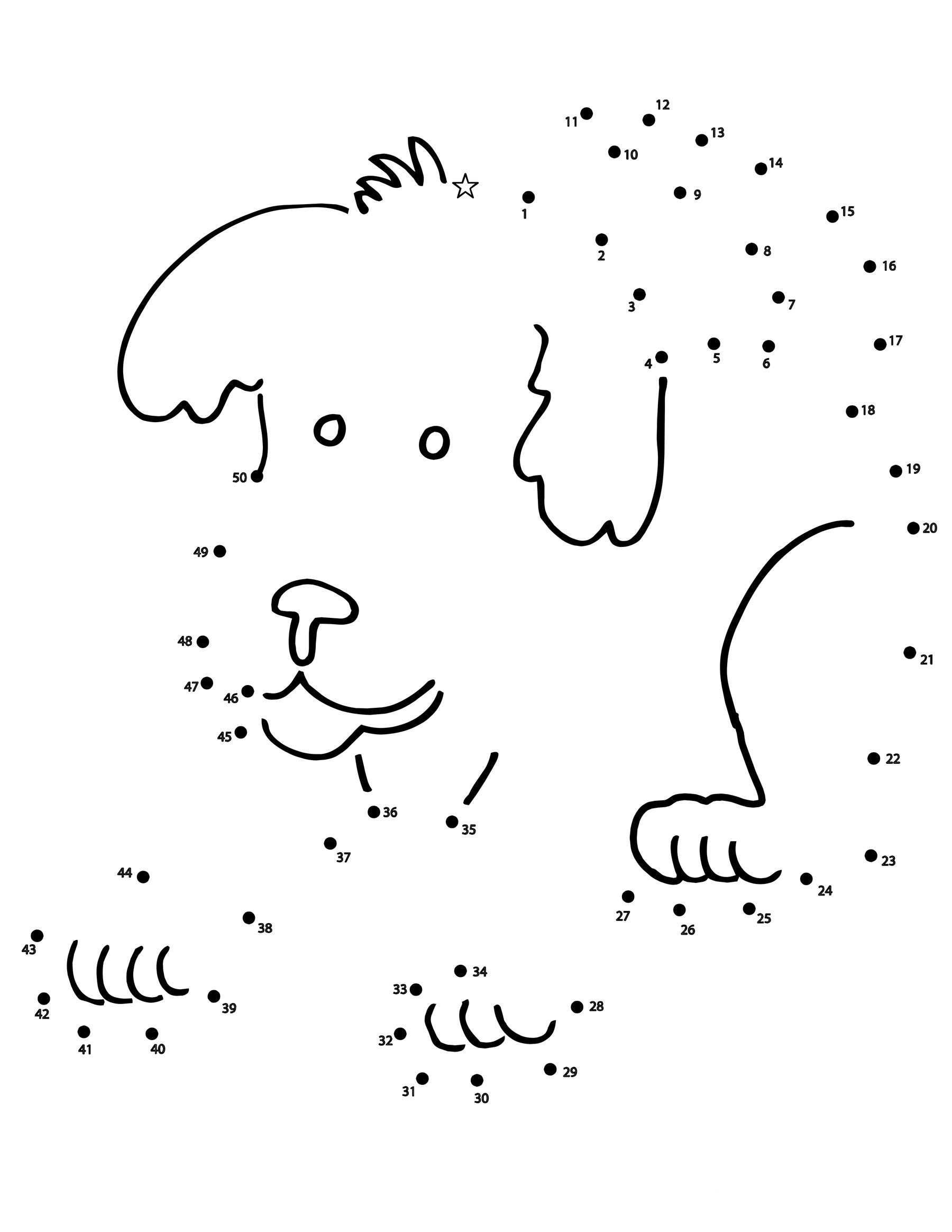100dot To Dot Coloring Pages