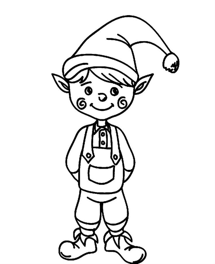Cute Elf Coloring Page Free Printable Coloring Pages For Kids