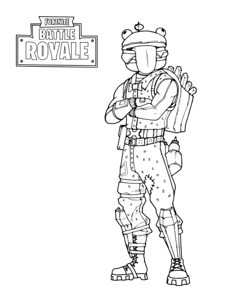 Durr Burger Fortnite Coloring Page Free Printable