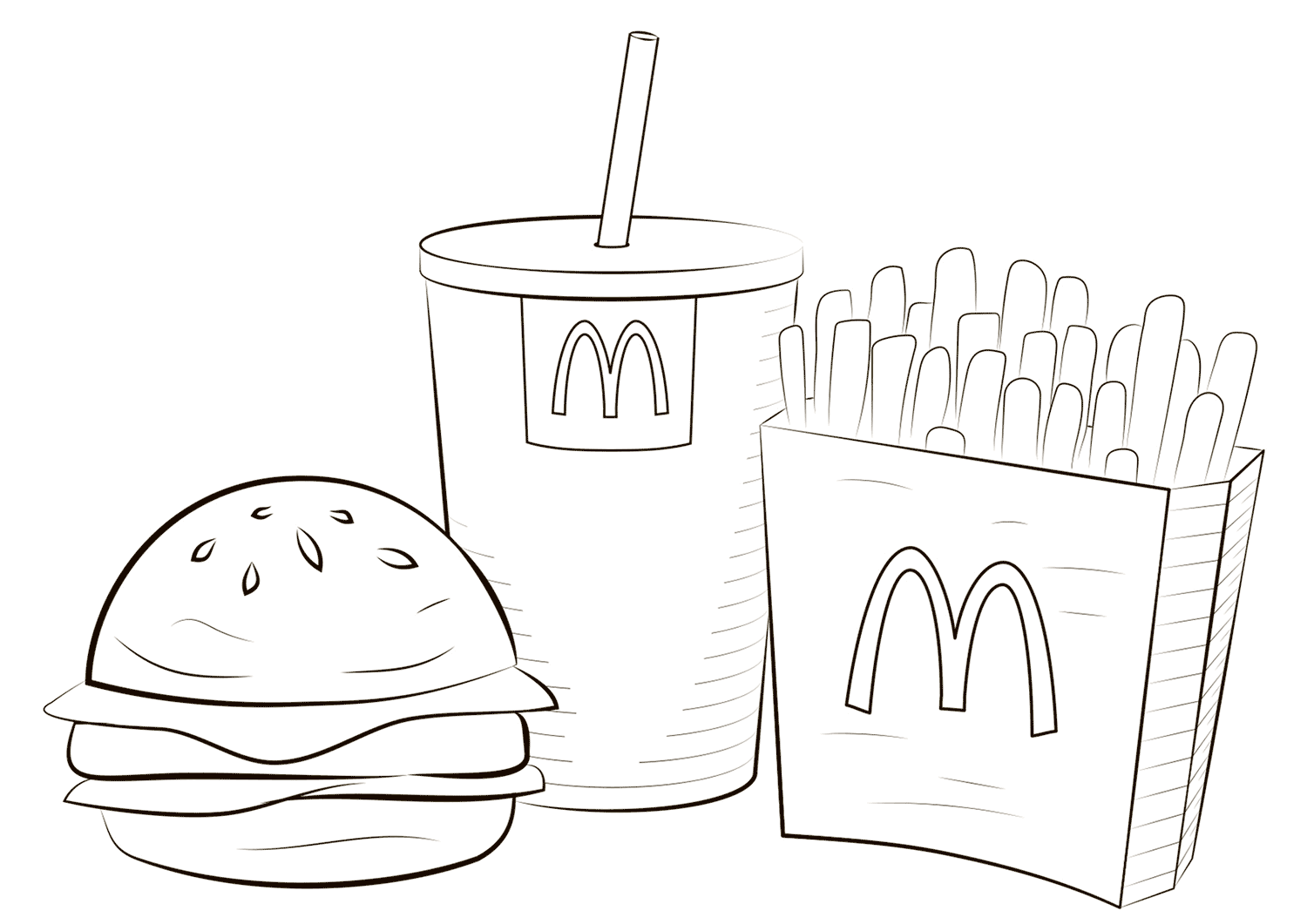 Mcdonald Food Coloring Page