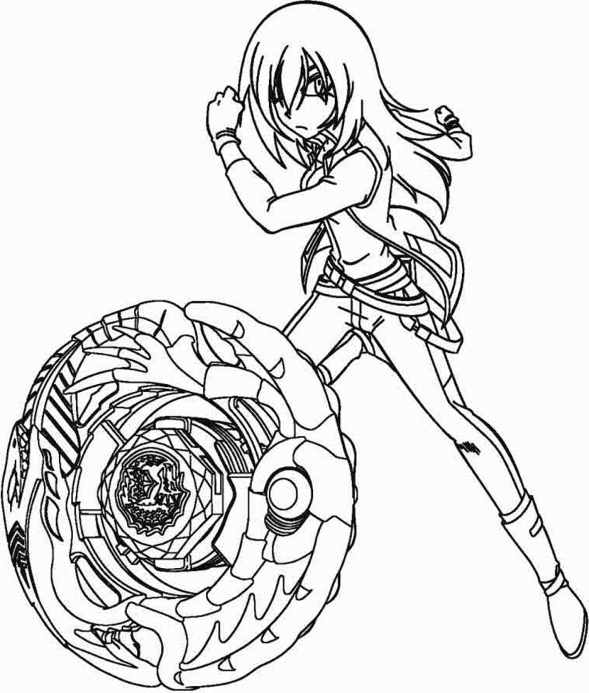 tsubasa  his beyblade coloring page  free printable