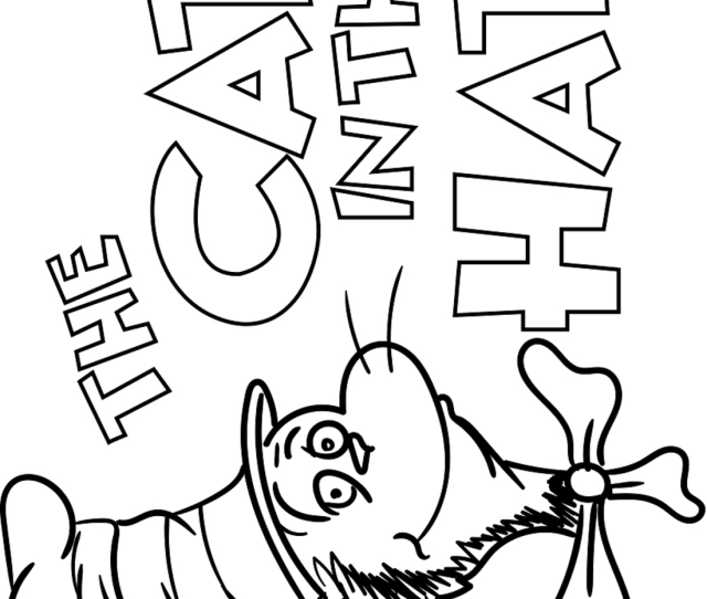 The Cat In The Hat Coloring Page Free Printable Coloring Pages