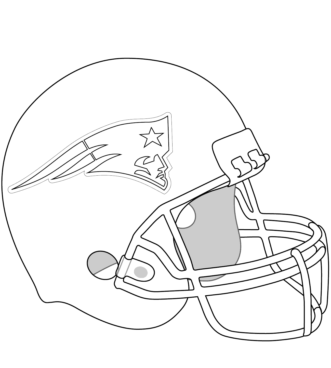 New England Patriots Helmet Coloring Page