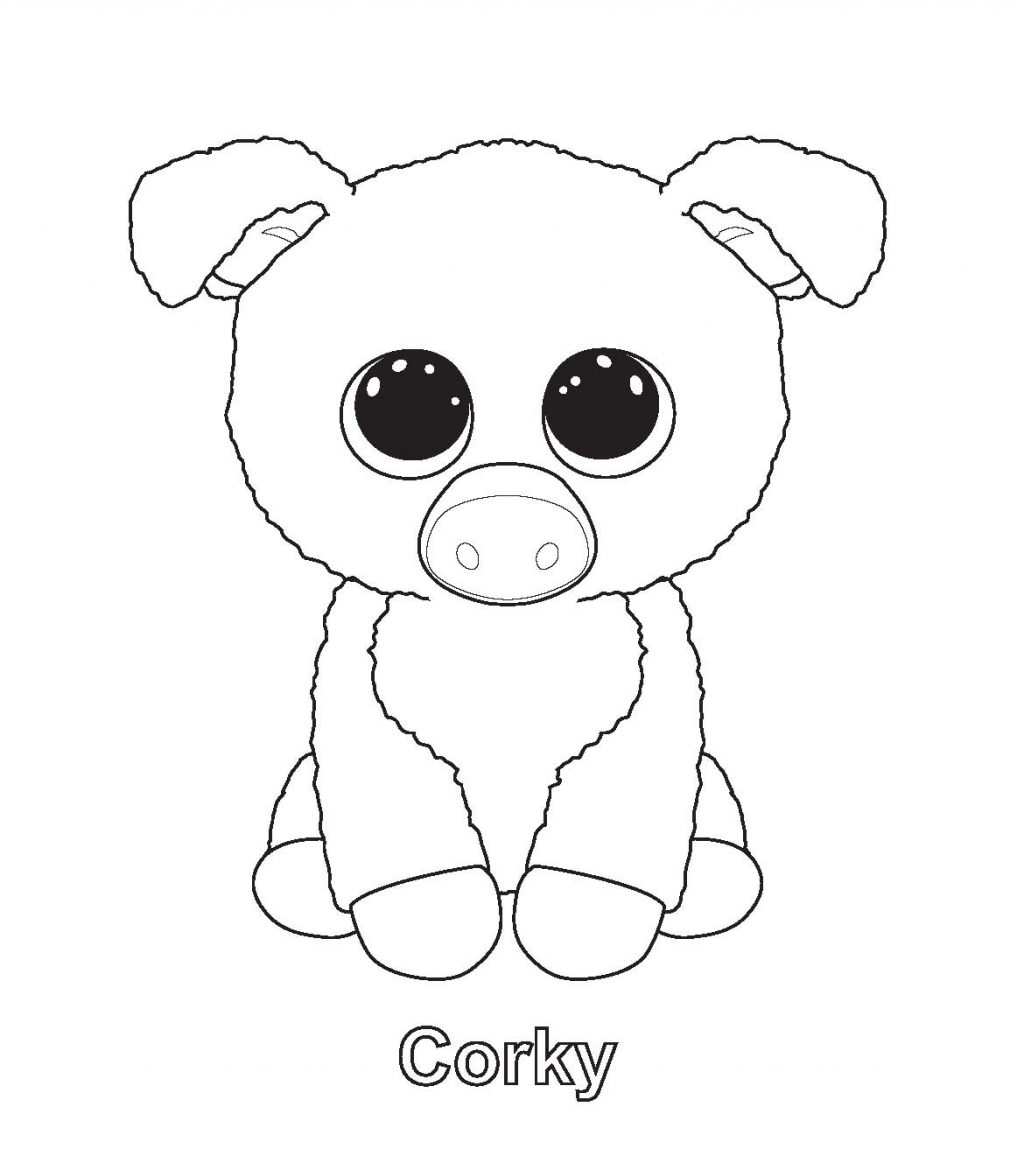 Corky Beanie Boo Coloring Page