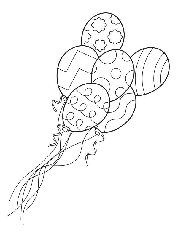 Colouring Page Balloons Coloringpage Ca