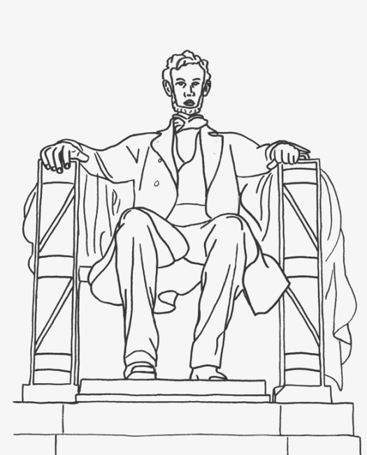 Abraham Lincoln Coloring Pages Pdf : Abe lincoln coloring page book printable