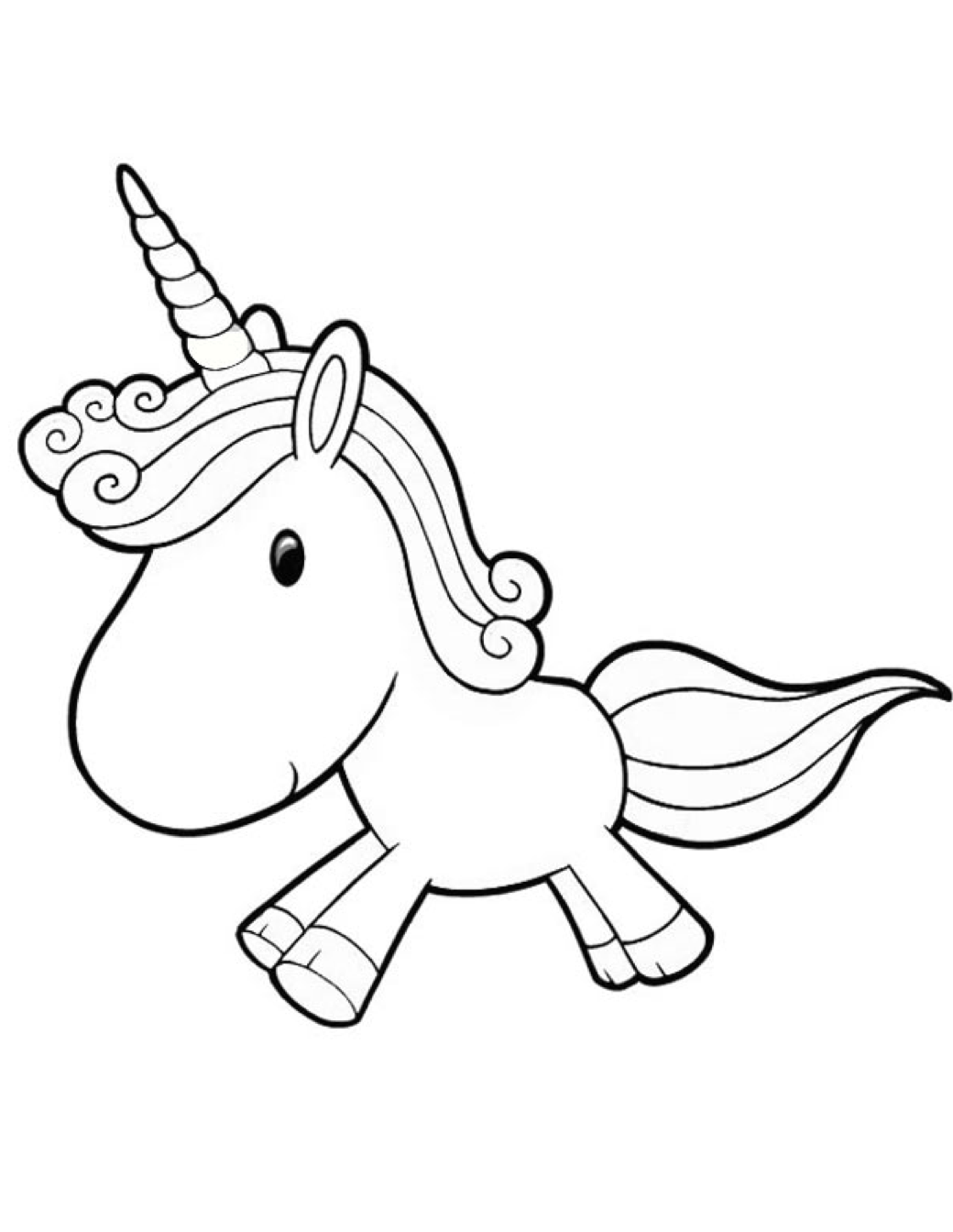 Cartoon Unicorn Coloring Page Amp Coloring Book