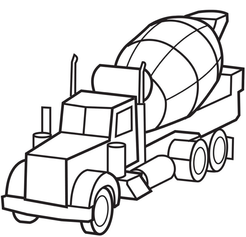 Cement Truck Coloring Page Coloring Page Book For Kids