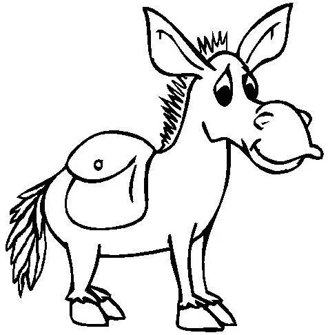 Donkey Colouring Page Coloring Page Book For Kids