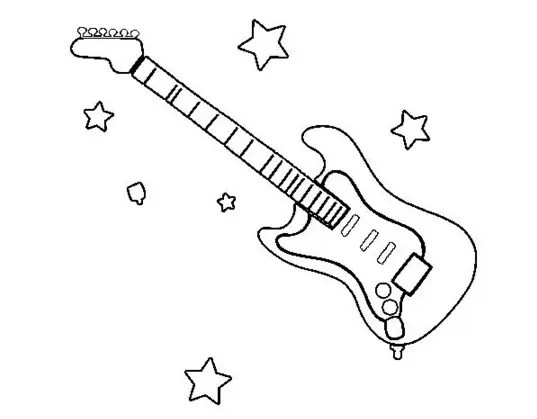 Electric Guitar Coloring Page Coloring Page Book For Kids