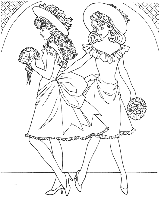 Fashion Model Coloring Page Coloring Page Amp Book For Kids