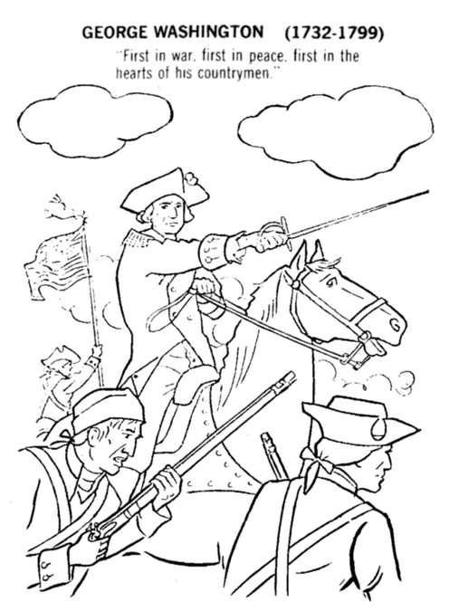 George Washington Coloringpage
