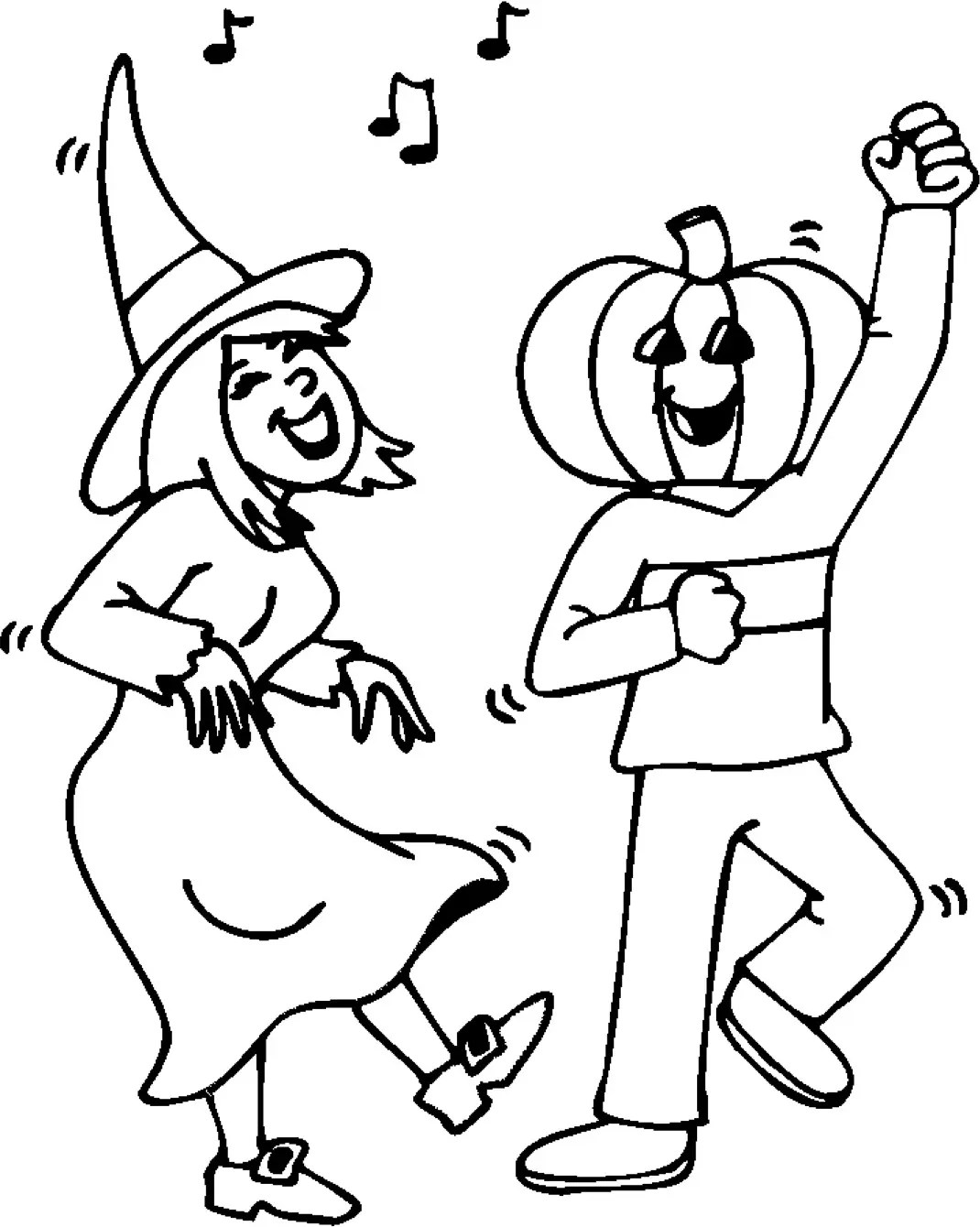 Halloween Party Coloring Page Amp Coloring Book