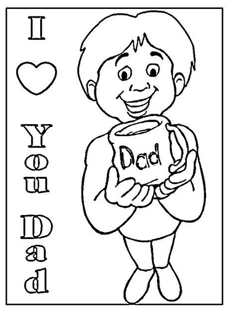 i love you dad coloring page & coloring book