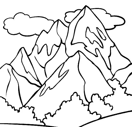 coloring pages printable mountains and trees # 8