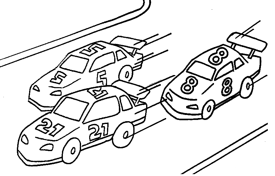 Racing Cars Coloring Page Coloring Page Book