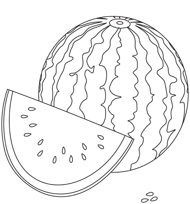 Watermelon Coloring Page Amp Coloring Book