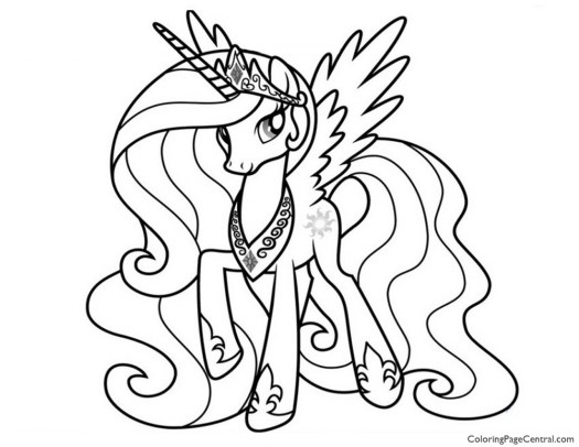 My Little Pony Coloring Pages Princess Celestia And Luna