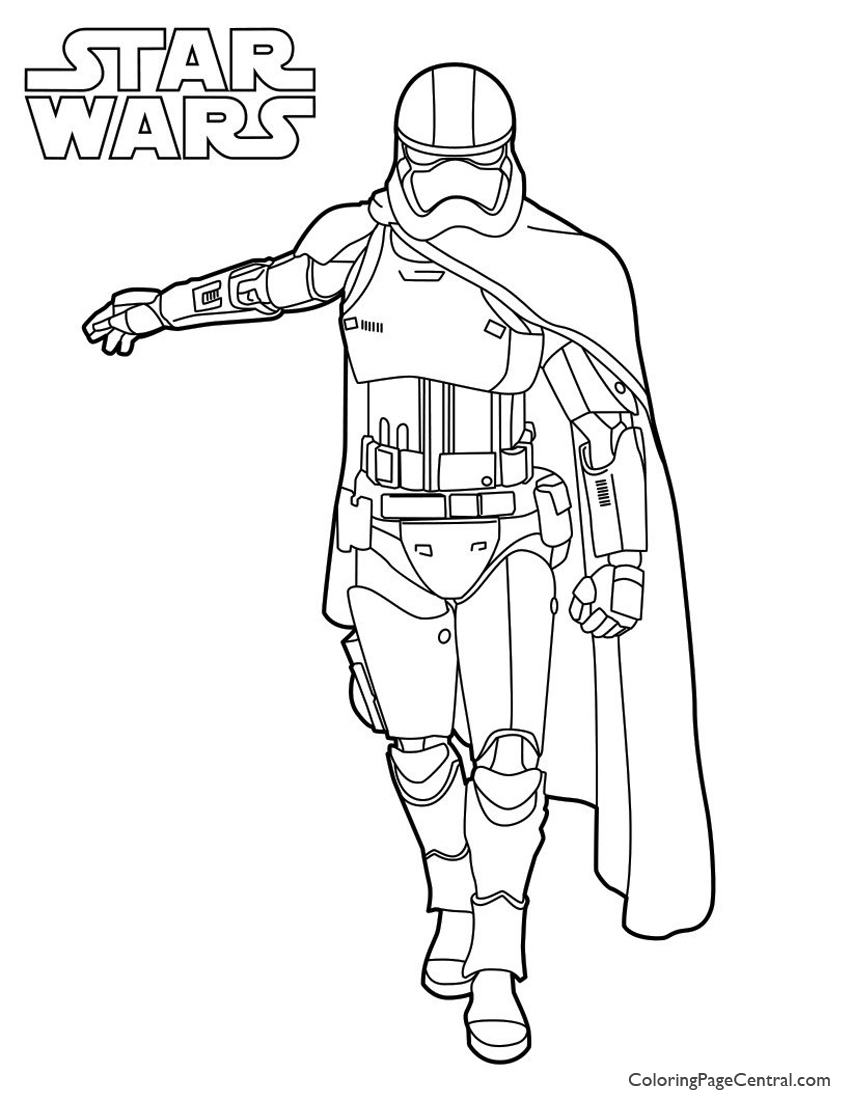Star Wars Captain Phasma Coloring Page Coloring Page Central