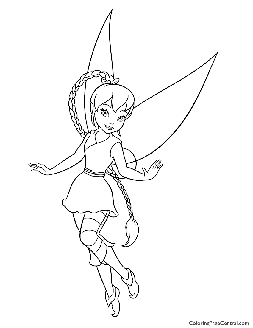 Tinkerbell Fawn 01 Coloring Page Coloring Page Central