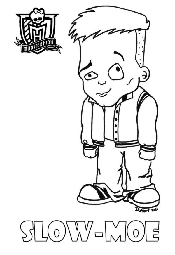 monster high baby coloring pages # 69