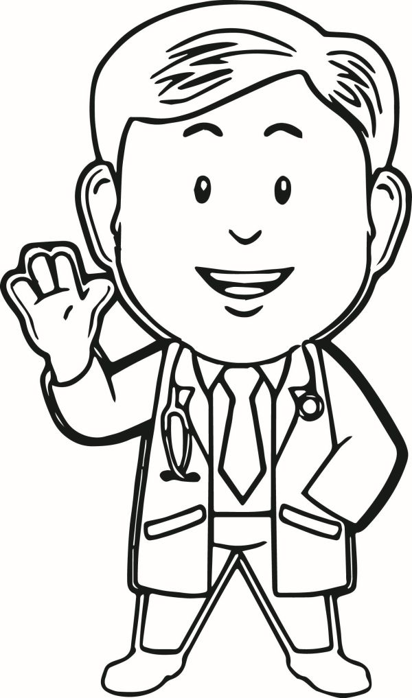 doctor coloring page # 9