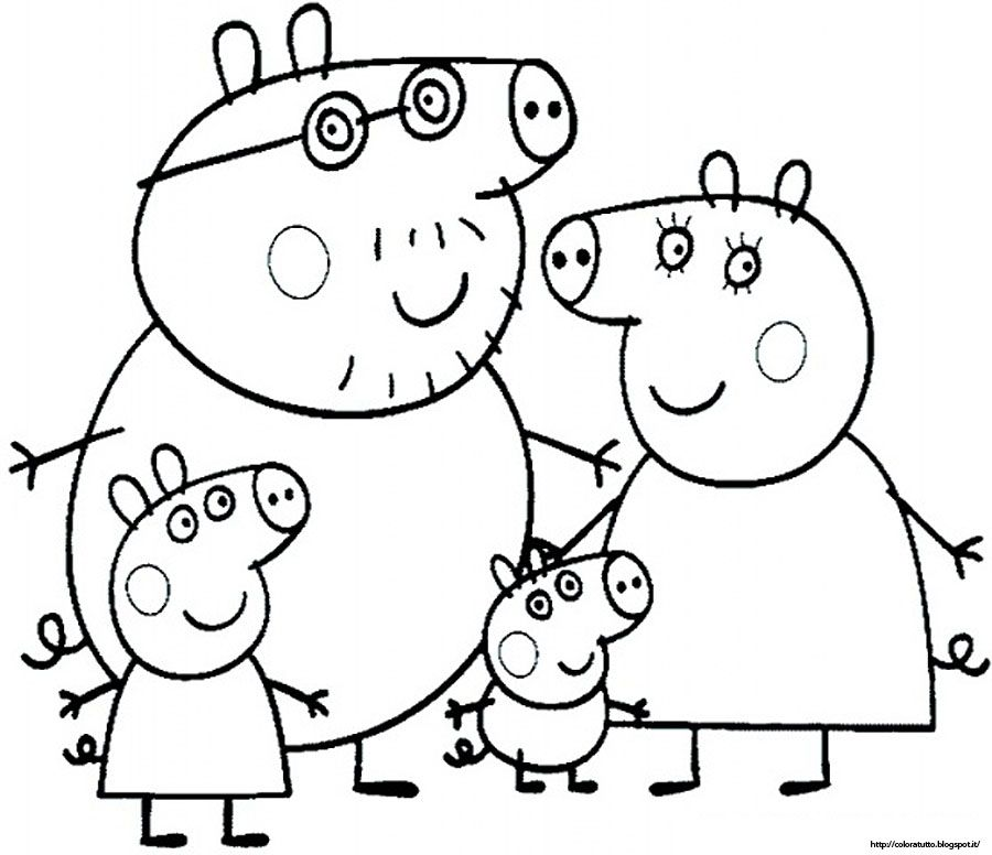 Peppa Pig Coloring Pages Books 100 Free And Printable