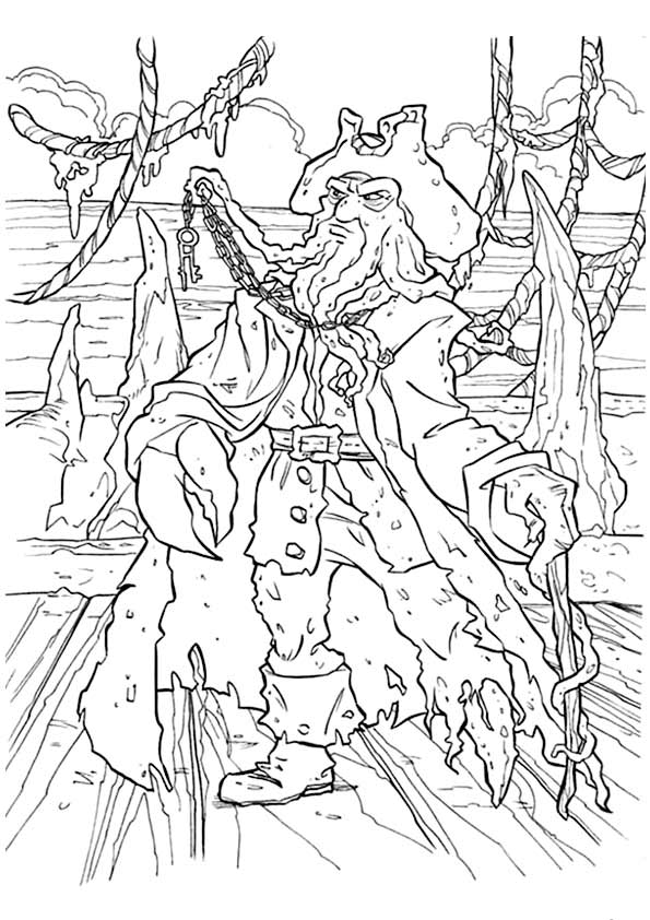 pirates of the caribbean coloring pages # 32