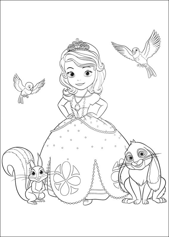 Sofia The First Coloring Pages Books 100 Free And Printable