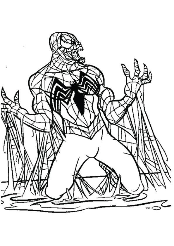 Venom Coloring Pages Books 100 Free And Printable