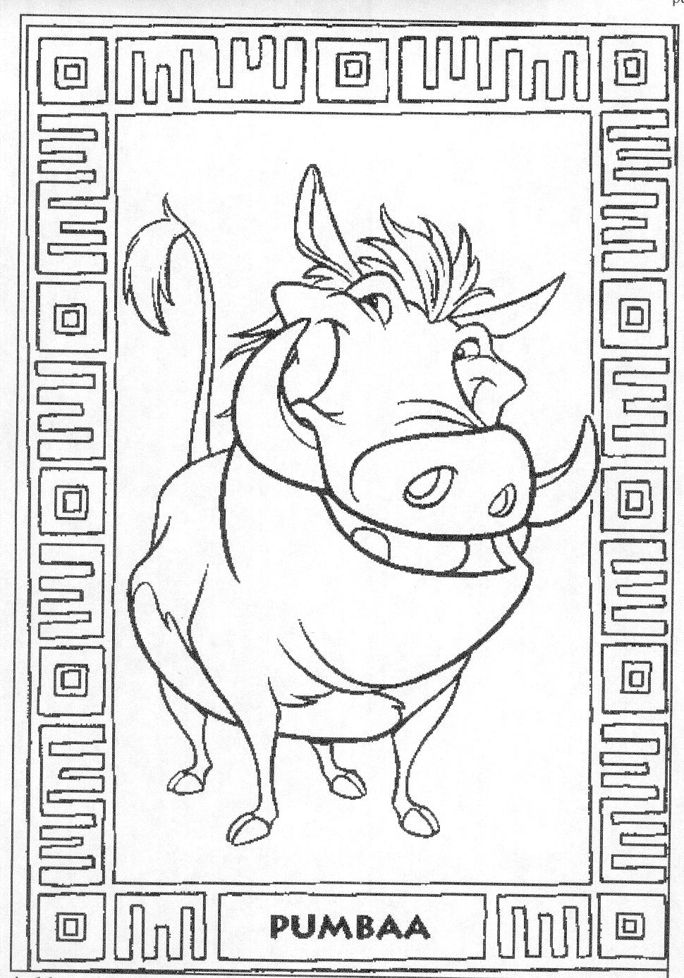 The Lion King Coloring Pages Coloringpages1001