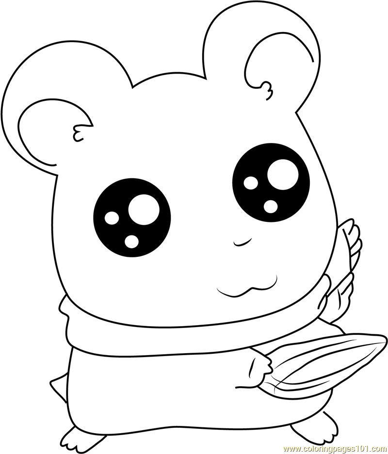look into my big eye coloring page  free hamtaro coloring