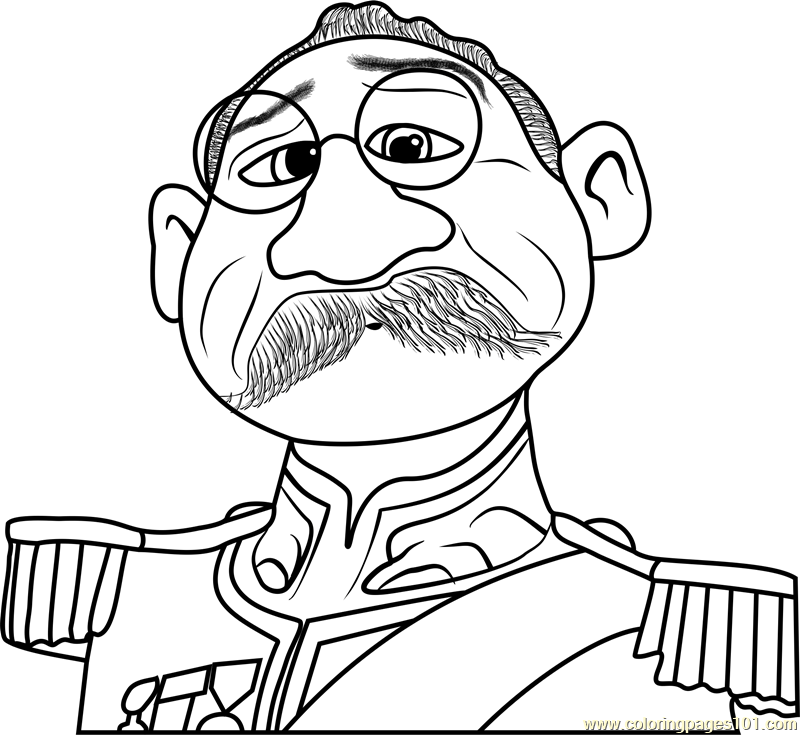 Duke Of Weselton Coloring Page Free Frozen Coloring