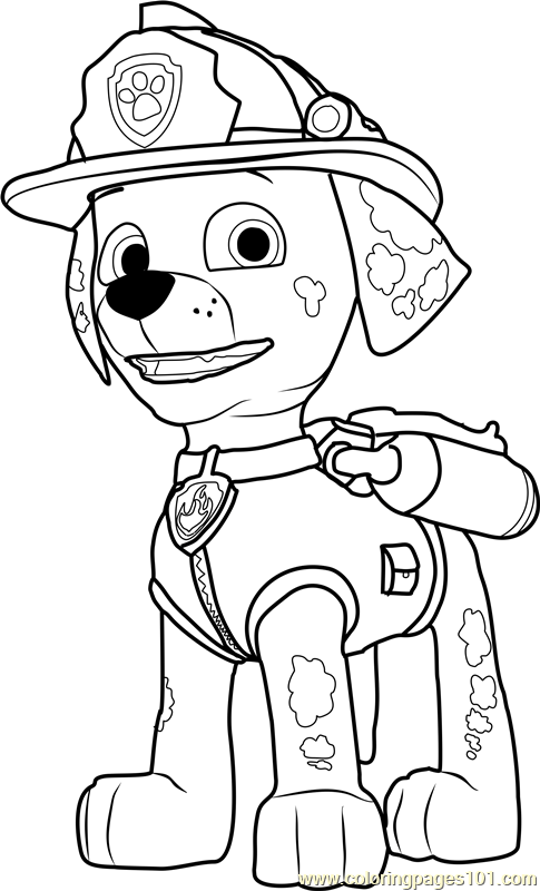 Marshall Coloring Page Free PAW Patrol Coloring Pages