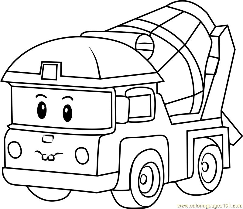 Gambar Roy From Robocar Poli Coloring Pages Jpeg Png Gif Best