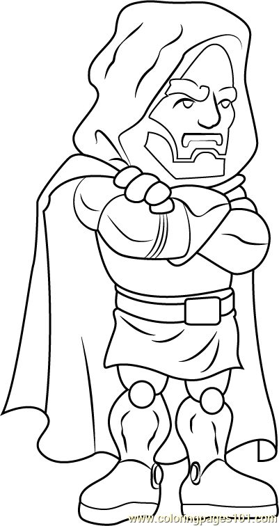Dr Doom Coloring Page Free The Super Hero Squad Show