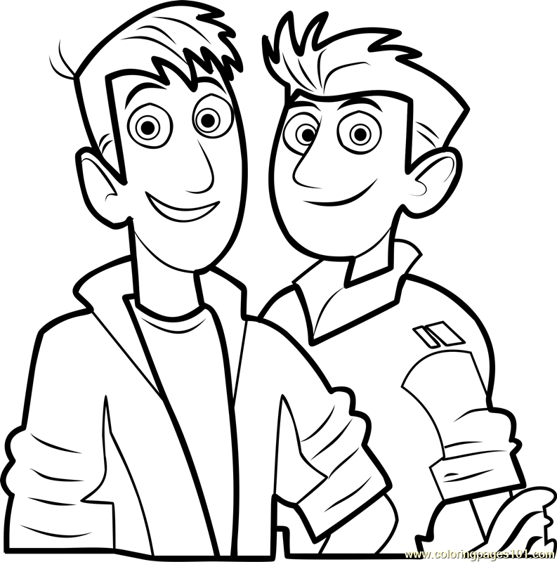 Wild Kratts Printable Coloring Page For Kids And Adults