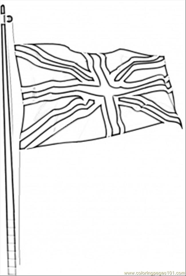 flag of great britain coloring page  free great britain