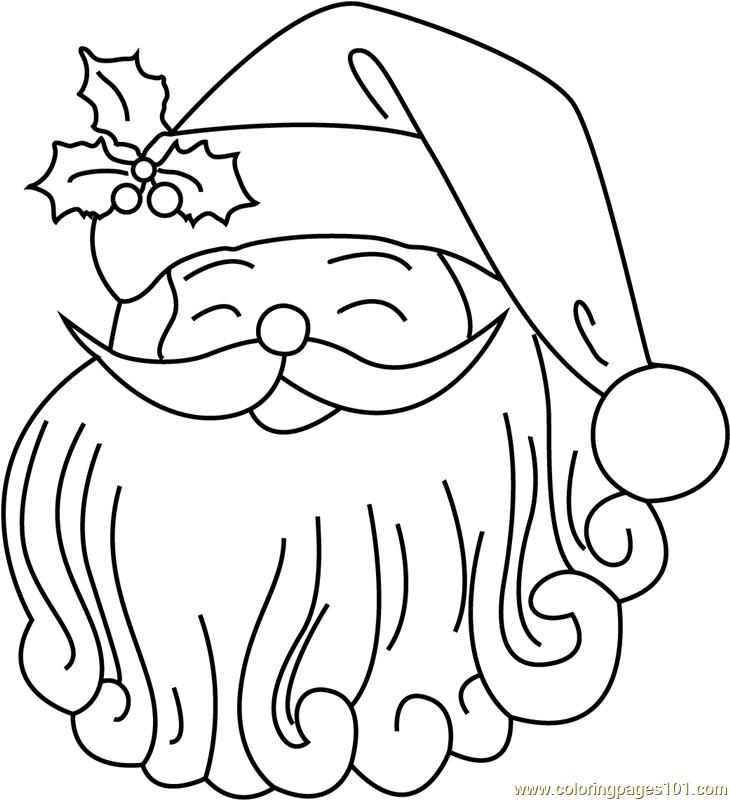 Cute Santa Face Coloring Page Free Santa Claus Coloring Pages Coloringpages101 Com